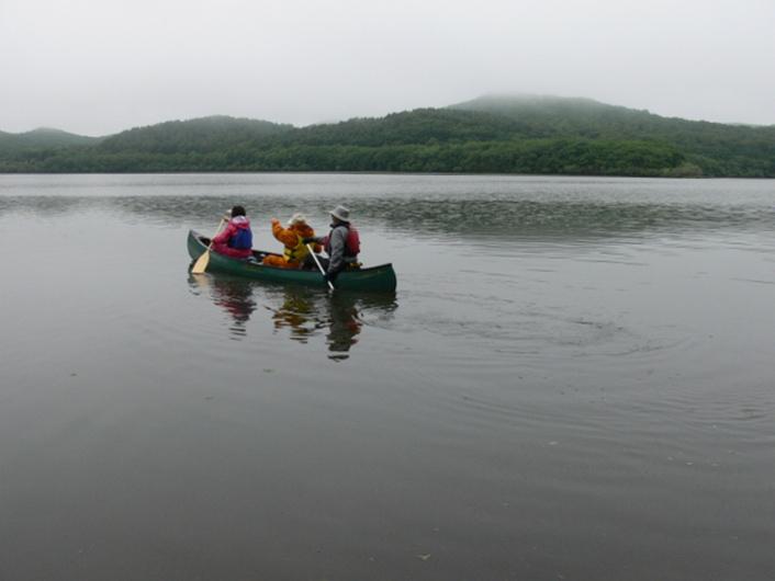 釧路湿原の中を流れる川を優雅にカヌーで下りながら大自然を観光〜釧路湿原の美しきシンボル『タンチョウ』〜